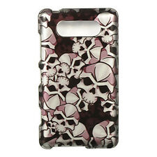 For Nokia Lumia 820 HARD Protector Case Snap On Phone Cover Black Skulls