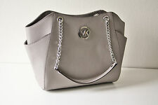 MICHAEL KORS TASCHE/BAG JET SET TRAVEL LG CHAIN TOTE Saffiano Leder grey/grau