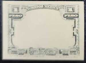 A) 1915, MEXICO, PROOF, 1p, GRAY WHITE AND BLACK, XF