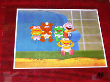 ORIGINAL MUPPET BABIES PRODUCTION ANIMATION CEL SOFA KERMIT ANIMAL SKEETER FOZZY