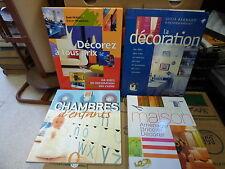 lot de 4 livres sur la décoration : Barnard, McKevitt, chambres d'enfants - déco