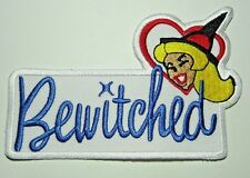 """BEWITCHED TV Series Samantha & Text 4.5"""" x 2.5"""" Embr. Sewn/Iron On Premier Patch"""
