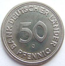 RARITÄT! 50 Pf 1949 J in POLIERTE PLATTE NUR 250 EXEMPLARE SEHR SELTEN !!!