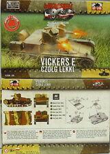 Facilitateur Polonais Réservoir Vickers E dw, First To Fight, 1/72 Plastique