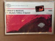 HARLEY DAVIDSON OWNER'S MANUAL FX MODELS 1340CC 4 SPEED 1985