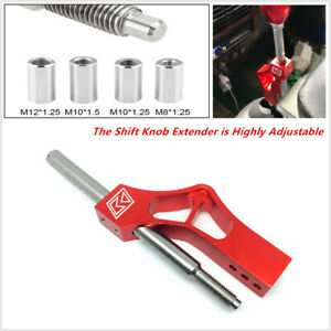 Aluminium Adjustable Car Height Lever Extension For Shift Knob w/ Adapter Superb
