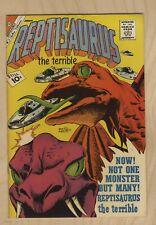 REPTISAURUS THE TERRIBLE #3 SHARP NM 9.4 1962 CHARLTON MONSTER,HOSTILE ALIENS!