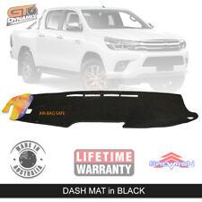 BLACK DASH MAT for TOYOTA Hilux SR5 SR Workmate GUN126R Rugged 7/2015-20 DM1412