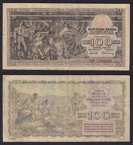 Jugoslavia 100 dinara 1953  BB-/VF-  C-05