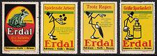 400213/ Reklamemarke - ERDAL Schuhcreme - 4 Stück