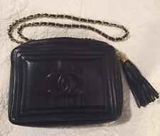 Authentic Black Leather Chanel Purse MINT with tag