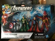 MARVEL UNIVERSE ORIGINAL AVENGERS THOR CAPTAIN AMERICA LOKI IRONMAN lot 4 pack