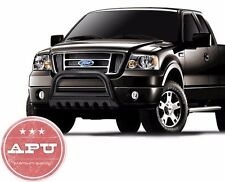Fits 04-13 Ford F150 F-150 Black Bull Grille Crash Brush Bumper Guard +Fog Light