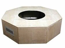 HPC 54 Inch x 18 Octagon Unfinished Fire Pit Enclosure NG -Match Lit
