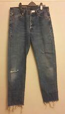 Vintage Levis 501 Jeans w33 Corte 90s rasgada Retro Personalizados