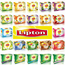 LIPTON TURKISH APPLE Tea GREEN Tea SLIM HERBAL Tea FRUIT Tea ( 4 Box X 20 Bags)