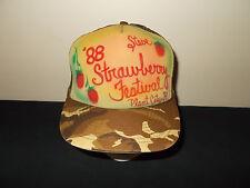 VTG-1988 Strawberry Festival Plant City Florida camouflage snapback hat sku12