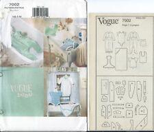 Vogue 7002 sewing pattern Baby GOWN JUMPSUIT ROMPER HAT TOP BIB TOWEL sew UNCUT