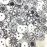 50/100pc 15mm Christmas snowflake  Wood Button Kid's Sewing Crafts WB372