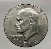 1974 President Eisenhower Apollo 11 Moon Landing Dollar USA Coin Denver  i46179