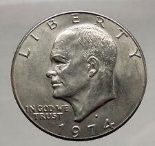 1974 President Eisenhower Apollo 11 Moon Landing Dollar USA Coin Denver  i46179