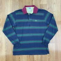 Vintage LACOSTE IZOD Mens Long Sleeve Polo Shirt   90s PATRON   Small S Blue