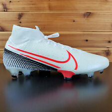 Nike Mercurial Superfly 7 Elite FG Soccer Football Size 10.5 White AQ4174-160