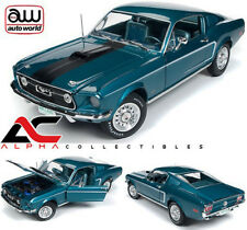 AUTOWORLD AMM1132 1:18 1968 FORD MUSTANG FASTBACK 2+2 50TH ANN. BLUE