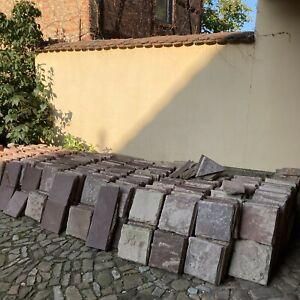 Bodenplatten Rote Sandstein Platte Fliese 1700 - 1800 Jhd. Barock / L29B29cm