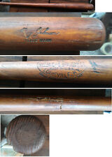Roy Johnson GAME USED BAT sidewritten 1935 Red Sox Yankees Tigers .296 hitter