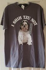 Delta Pro Weight Womens I Shih Tzu Not Crew Neck T-shirt Size M New