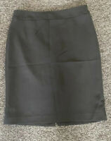 ARMANI COLLEZIONI Brown color 100% WOOL PENCIL SKIRT  Size 12