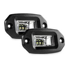 2x 20W Flush Mount LED Pods Flood CREE Work Light Offroad Backup Lamp 4x4 Jeep