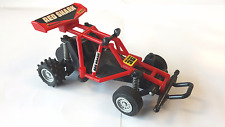 TOY DUNE BUGGY w/pull-back motor & suspension; 1980s?, red shark pirelli cibie