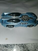 1994 Hot Wheels Splittin Image II 2 Ice Blue Flame Race Car Diecast Toy 102