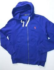 New Polo Ralph Lauren Small Pony Hoodie Blue  Sweater Large L