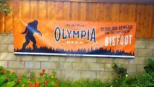 Olympia retro beer Believe Bigfoot Yeti Sasquatch banner poster sign 10ft