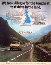 1978 Austin Morris 'Allegro 1750' Motor Car Advert - Original Auto Print AD