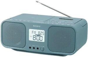 SONY CD Radio Cassette Recorder CFD-S401  LI Blue Grey