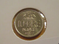 Norway BEE coin 1972  10 Ore uncirculated beauty  classic coin these are rare !!