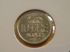 UNC SCANDINAVIAN CURRENCY 1 ORE- 1 KRONE 1972-2010 7 COINS FROM NORWAY
