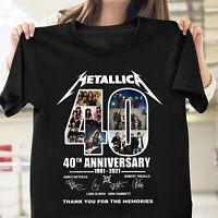 Metallica 40th Anniversary James Hetfield Fan Gift Unisex T Shirt S-5XL Black