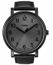 Orologio Timex modern heritage T2N346 in pelle nero uomo indiglo classico