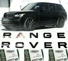 RANGE ROVER Genuine OEM Emblem Gloss Black Letters Hood Trunk Tailgate Badge