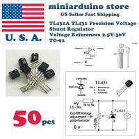 50Pcs TL431ACL TL431 Precision Shunt Regulator To-92 High quality