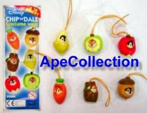 Tomy Set 6 Figuras Cip Dale Part 1 Correa Disney Chip & Mini Colgantes Nuevo