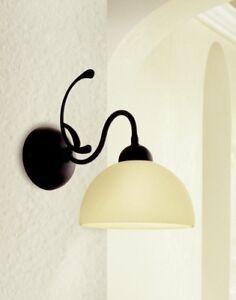 Wall Light Classic Metal And Glass Cream Satin