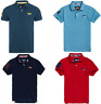 SuperDry Classic Pique Polo T Shirt Retro Tee Green/Blue/Red/Navy