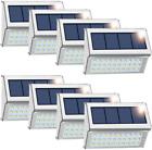 Solar Deck Lights, 8 Pack 30 LED(Upgraded) Solar Fence Lights Waterproof Step La