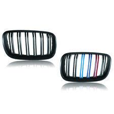 BMW X5 E70 Grille Carbon Fiber M-Color For 07-13 X6 E71 Dual Line Bumper Grille